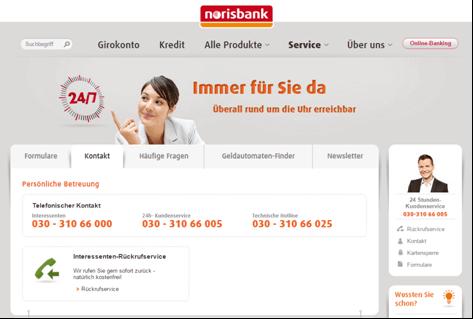 Der Kundenservice bei der norisbank