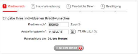 Mit dem Kredtikartenrechner der Sparkasse Hannover schnell informiert