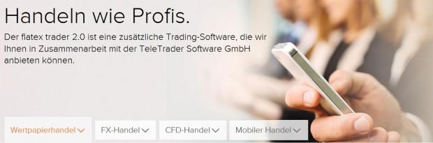 flatex stellt kostenlos funktionale Handelsplattform bereit