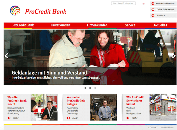 ProCredit Bank Festgeld