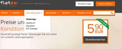 Sparen & investieren: flatex-Sparplan