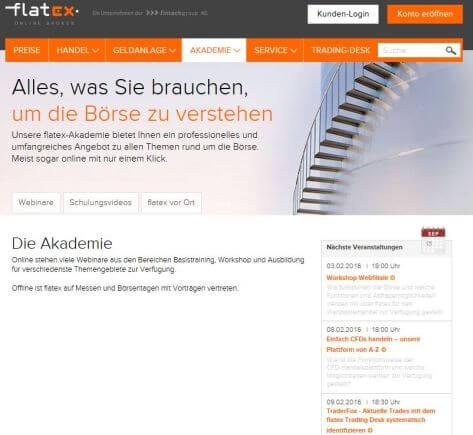 flatex bietet kostenfreies Schulungsprogramm