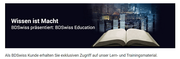 BDSwiss Forex Bildung