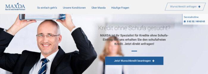 Maxda Kredit ohne Schufa