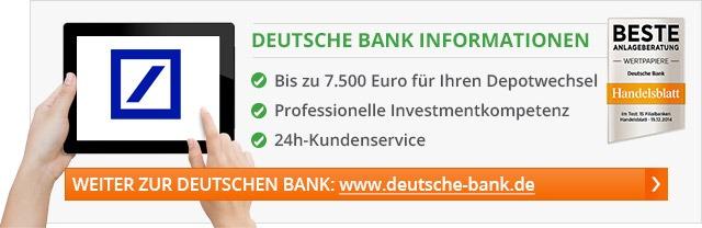 Deutsche Bank Depot Gebühren 2018: Kosten & Konditionen bei der ...