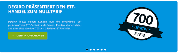 DEGIRO bietet sehr gute Konditionen zum ETF-Handel an