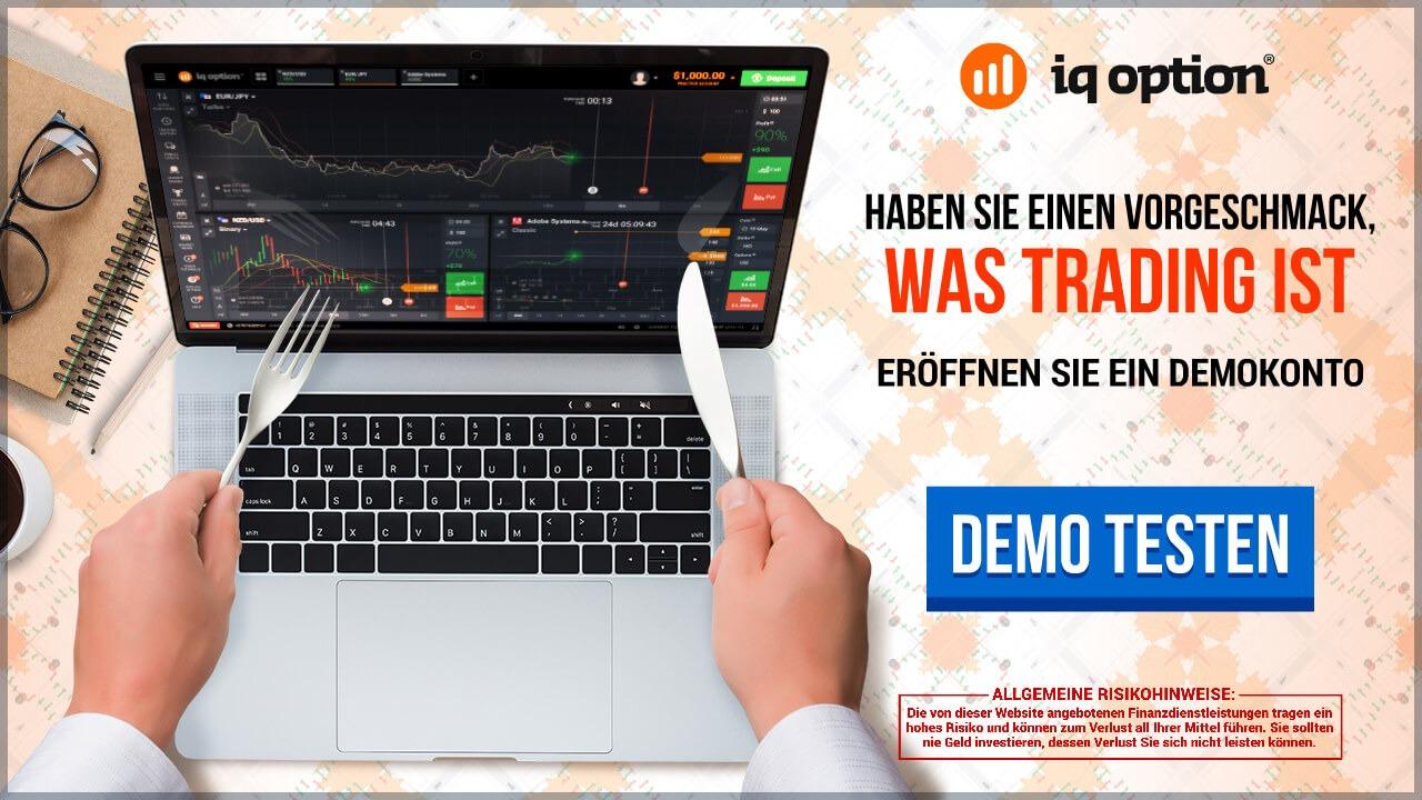 Trader können bei IQ Option ein Demokonto nutzen.