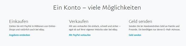 geld auf fremdes paypal konto einzahlen