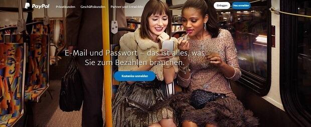 PayPal Zahlung mit E-Mail und Passwort