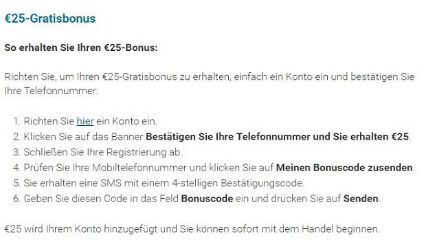 markets.com: Bonus