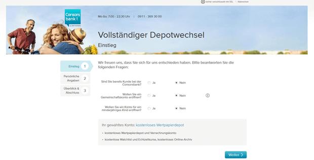 Broker Consorsbank Depoteröffnung