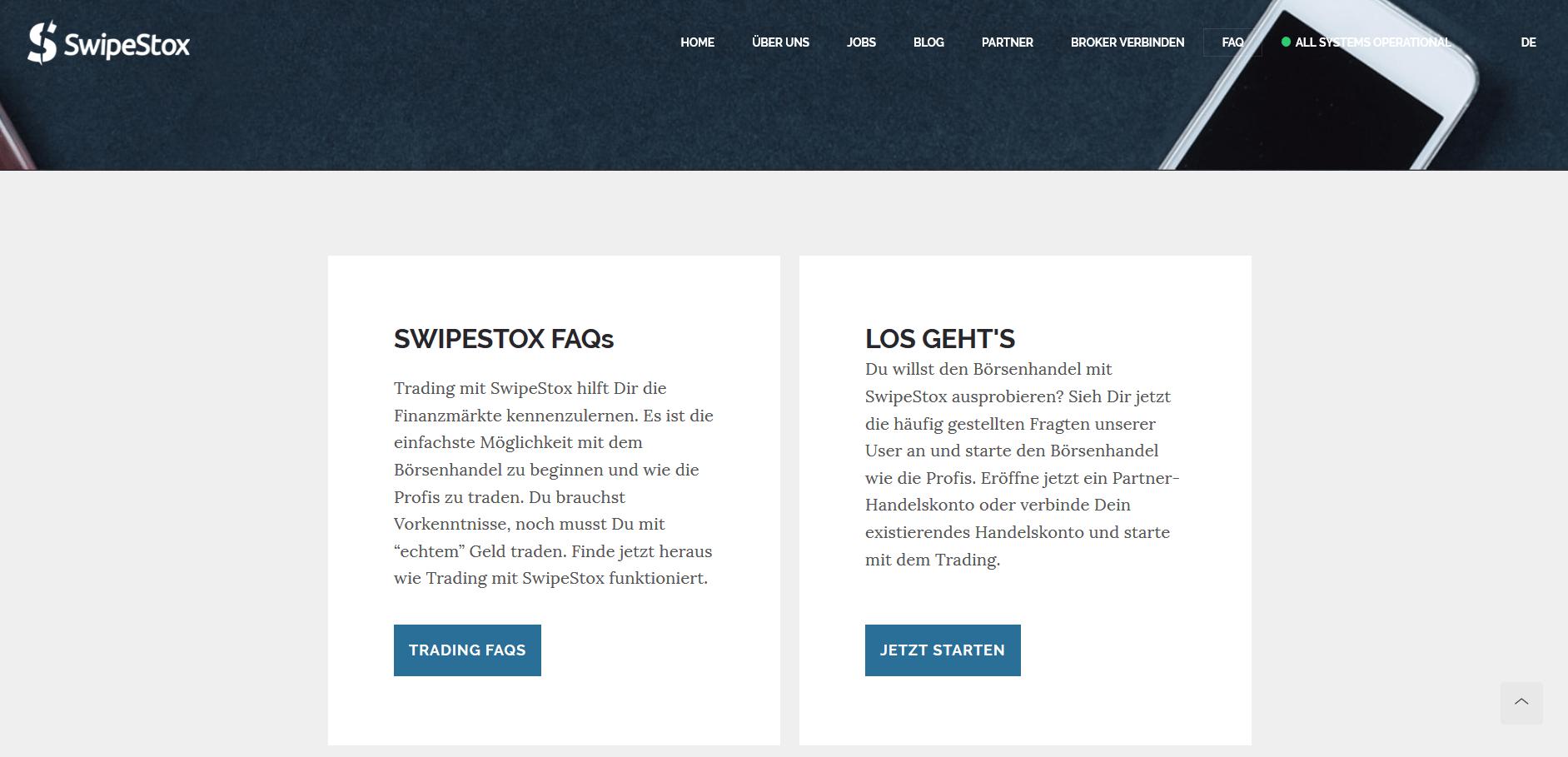 Die FAQ von SwipeStox