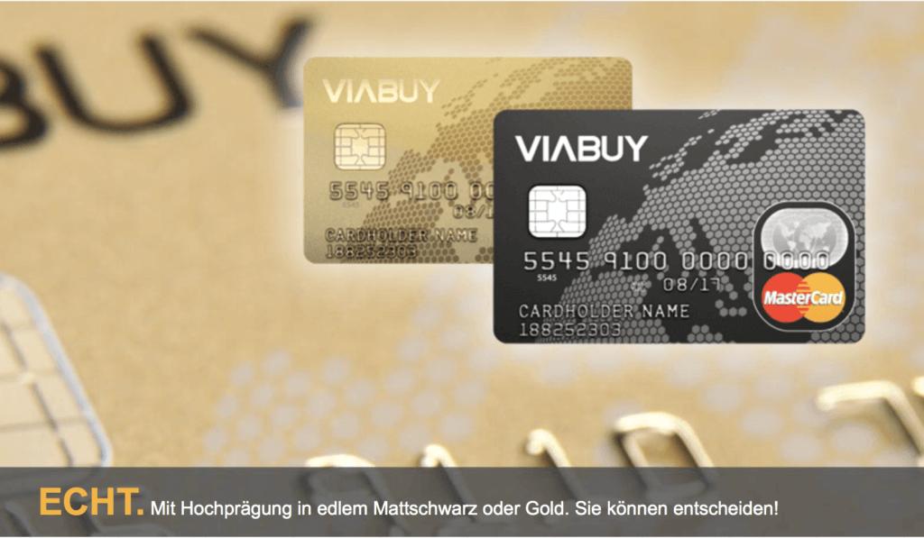 Die schufafreie VIABUY Kreditkarte ist in zwei Ausführungen erhältlich.