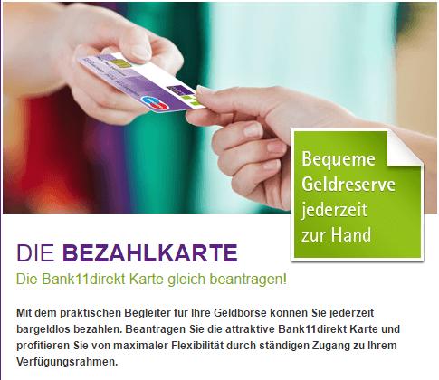 Bank11direkt Bezahlkarte