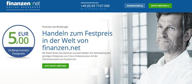 Finanzen.net Homepage