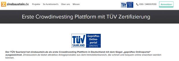 Zinsbaustein.de TÜV