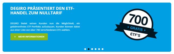 DEGIRO - der Broker bietet ETFs zum Nulltarif