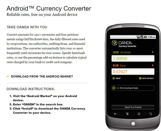 Android App OANDA