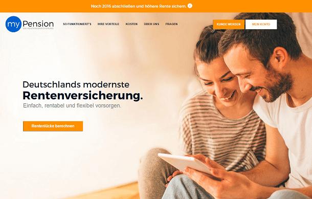 myPension Webseite