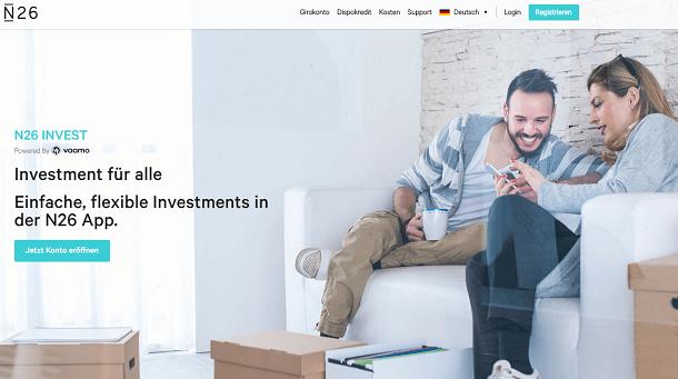 N26 Investmentprodukt