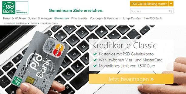 PSD Bank Berlin-Brandenburg Kreditkarte