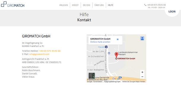 Giromatch Kontakt