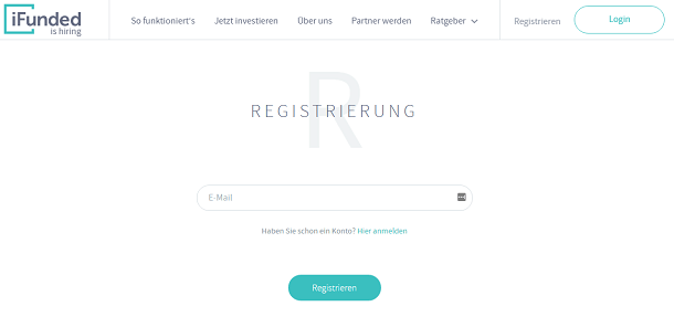 iFunded Registrierung
