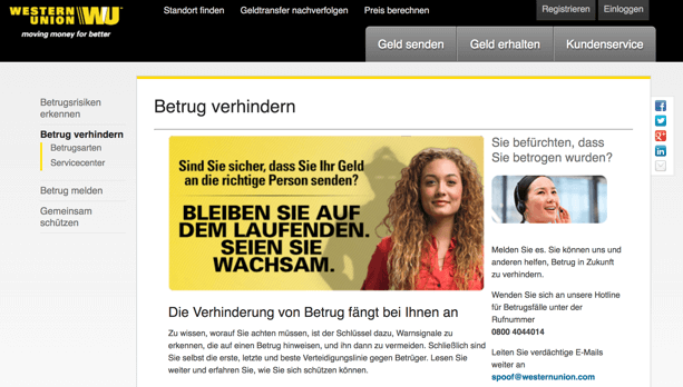 Western Union Sicherheit