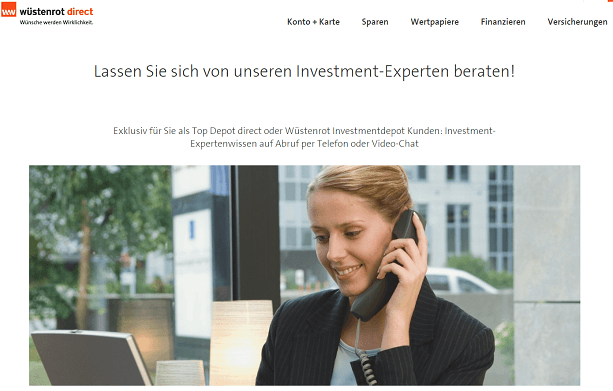 Wüstenrot Investmentdepot Kontakt
