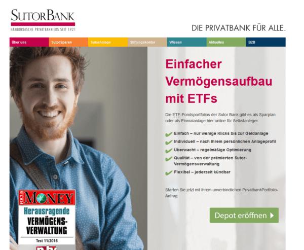 Sutor Bank Vermögendsaufbau