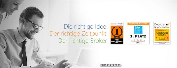 Zahlreiche Auszeichnungen zeigen, wie erfolgreich der Broker GKFX ist