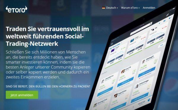 eToro - das weltweit führende Social-Trading-Netzwerk
