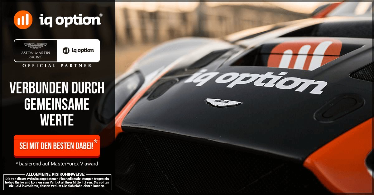 IQ Option Aston Martin Racing Partnerschaft