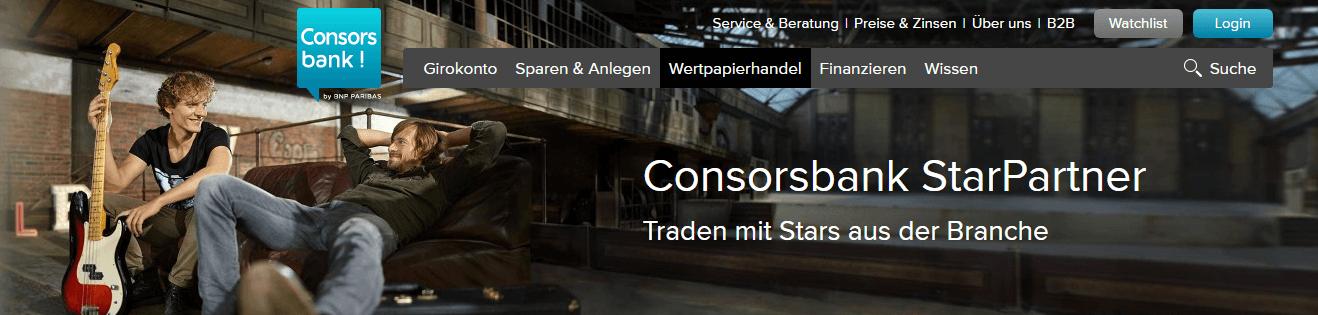 Consorsbank StarPartner Angebote