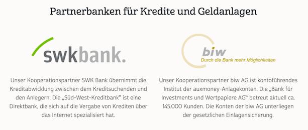 auxmoney Partnerbanken