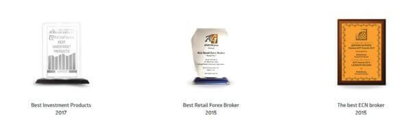 RoboForex hat bereits mehrere Auszeichnungen erhalten