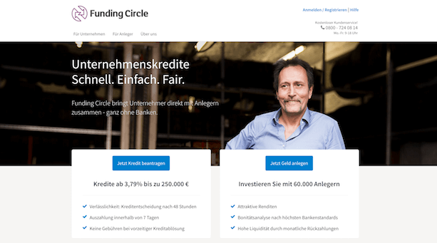 Funding Circle Webseite