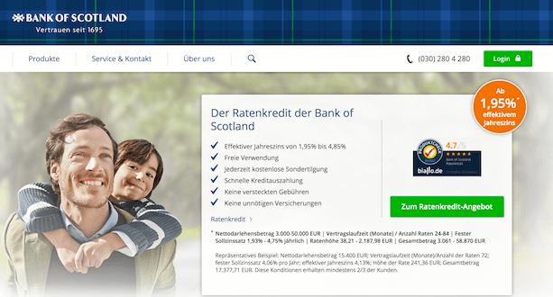 Bank of Scotland Kredit Erfahrungen von Aktiendepot.com