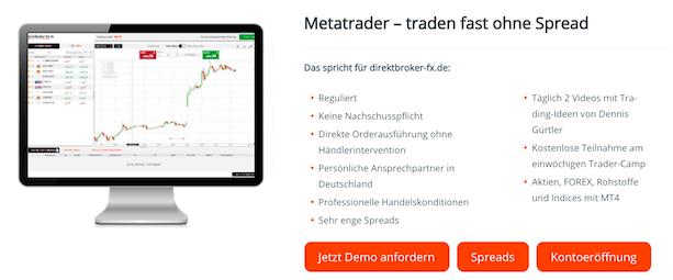 direktbroker Metatrader Handelsplattform