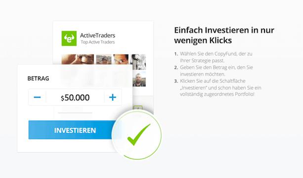 eToro Copyfunds Investition