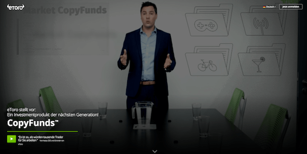 eToro CopyFunds Investmentprodukt