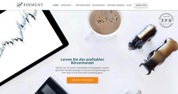 FinMent website
