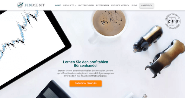 FinMent Webseite