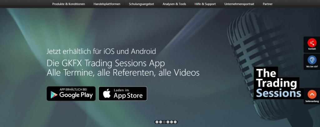 Mit der GKFX App können Sie verpasste Webinare ansehen