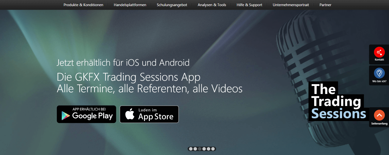 Die GKFX Trading Sessions App
