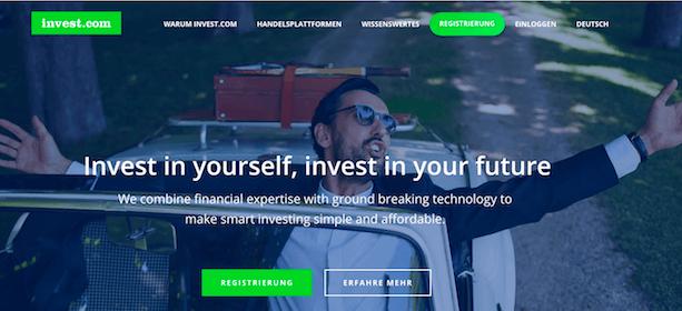 Invest.com Webseite