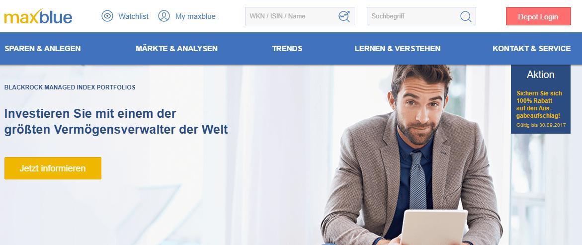 maxblue ist der Online Broker der Deutschen Bank.