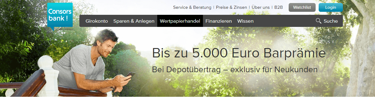 consorsbank depotübertrag prämie