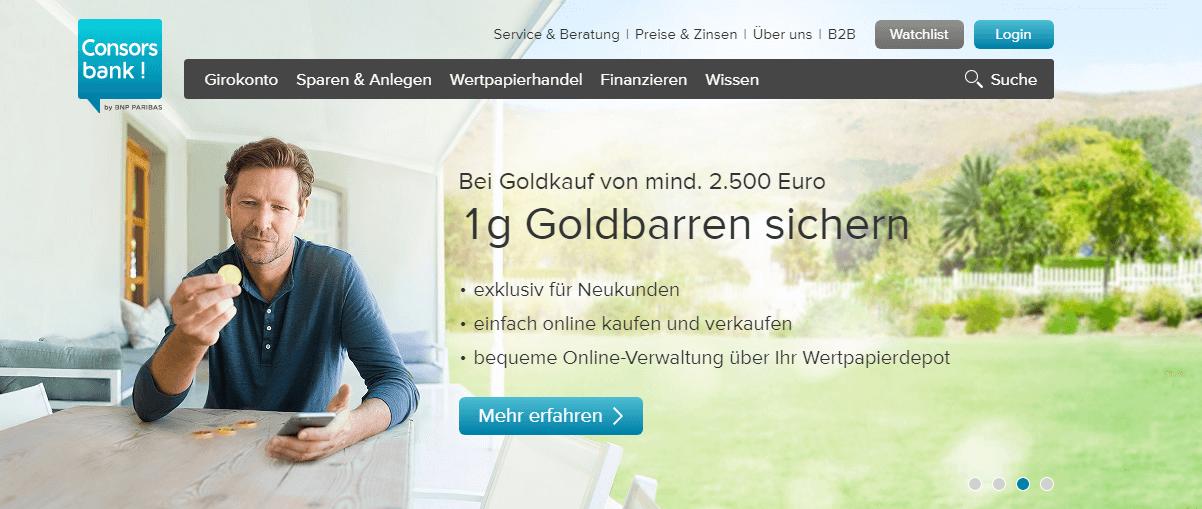 consorsbank 1 gramm gold bonus
