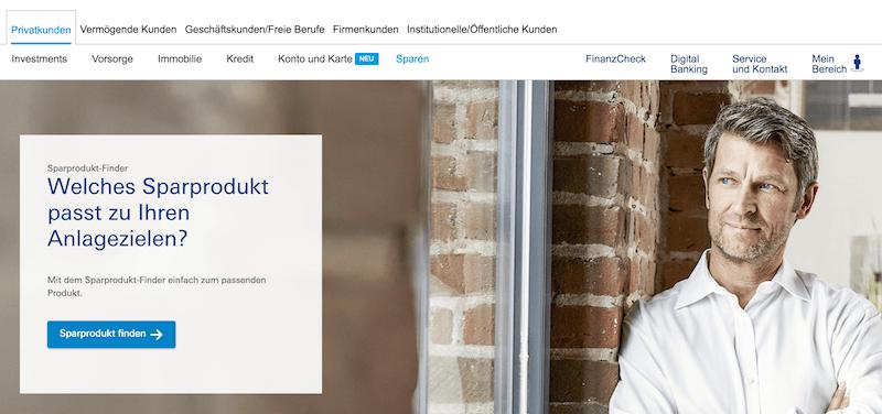 Deutsche Bank Sparprodukte getestet im Deutsche Bank Demokonto